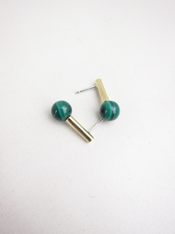 Quarry Adnat Earrings | Malachite
