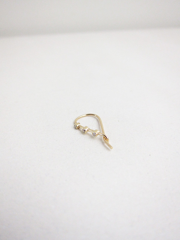 Quarry Triptych Cylinder Earring