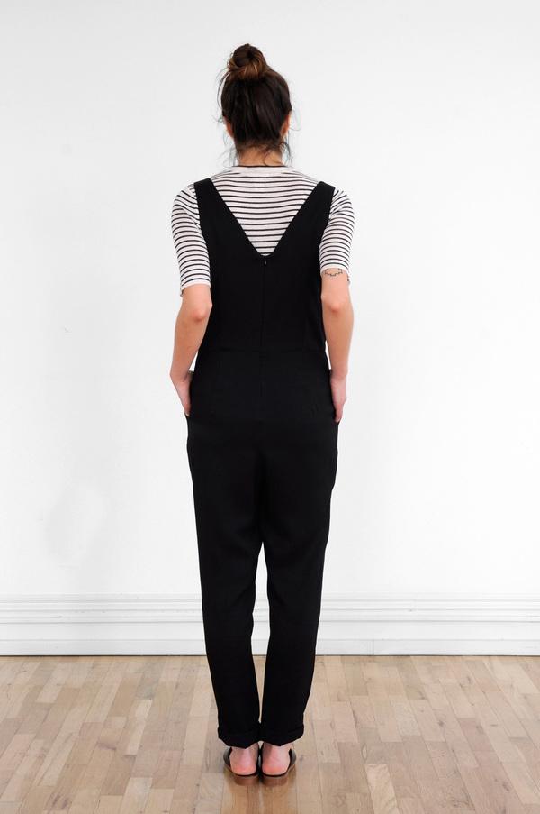 Waltz Double-Pleat Jumpsuit in Black