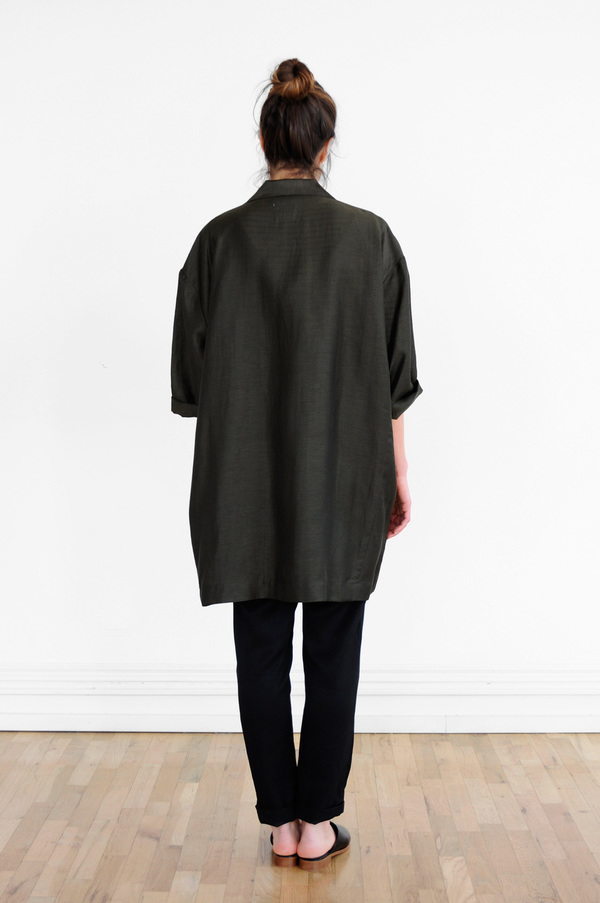 Waltz Oversized Jacket in Deep Olive
