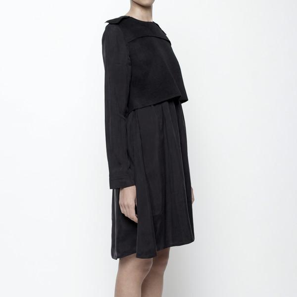 7115 by Szeki Wool Vest Long Sleeve Dress
