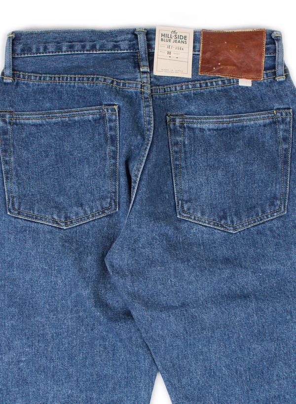 The Hill-Side Japanese Selvedge Denim 12.5oz Heavy Stonewash