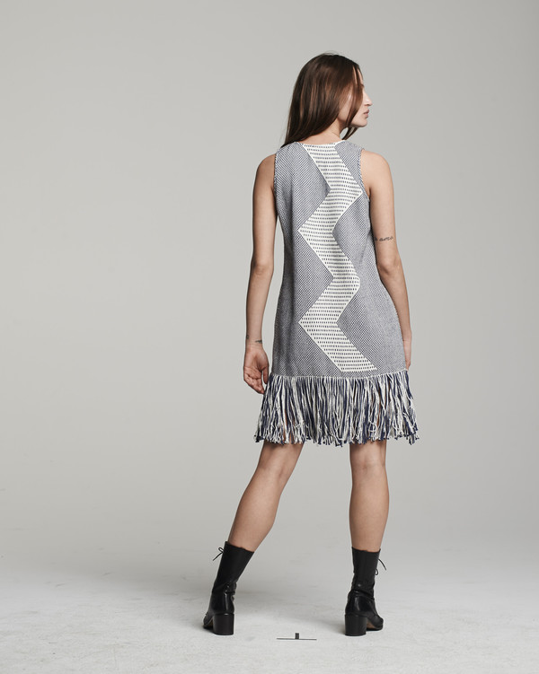 VOZ Zig Zag Dress - Indigo
