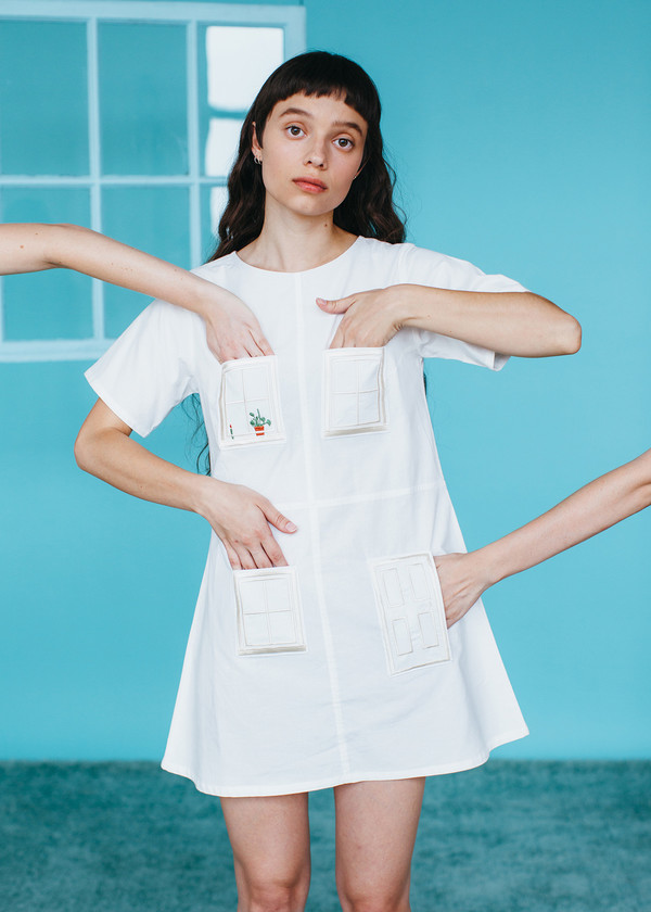 Samantha Pleet House Dress - Ivory