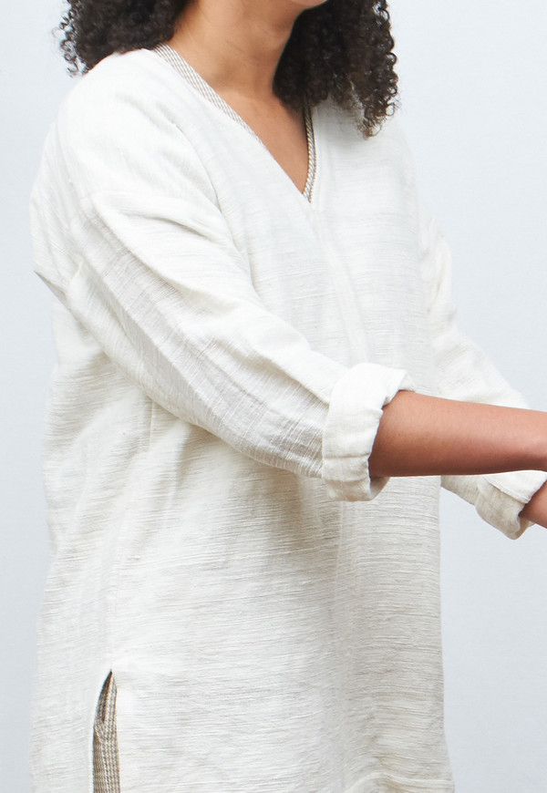 New Market Goods Khadi Pullover with 3/4 Sleeves