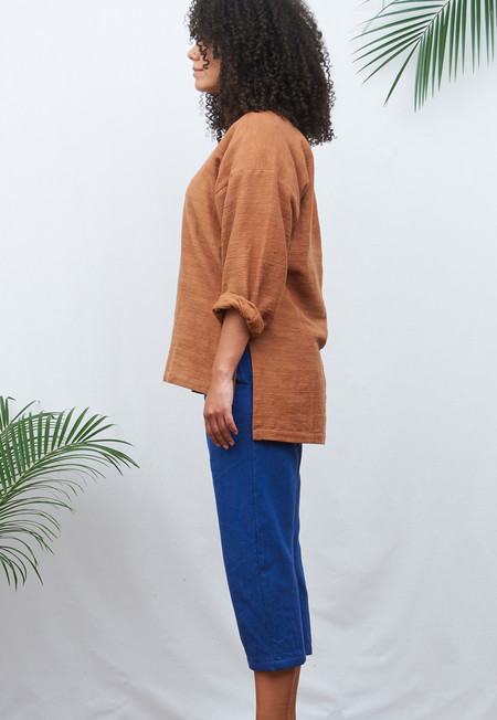 Khoir Khadi Pullover with 3/4 Sleeves