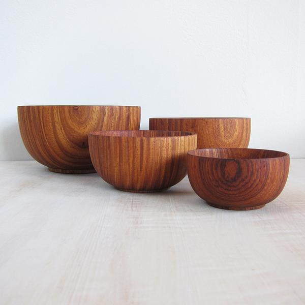 rosewood nesting bowls - set of 4