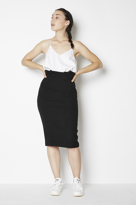 Blaque Label Origami Waist Pencil Skirt
