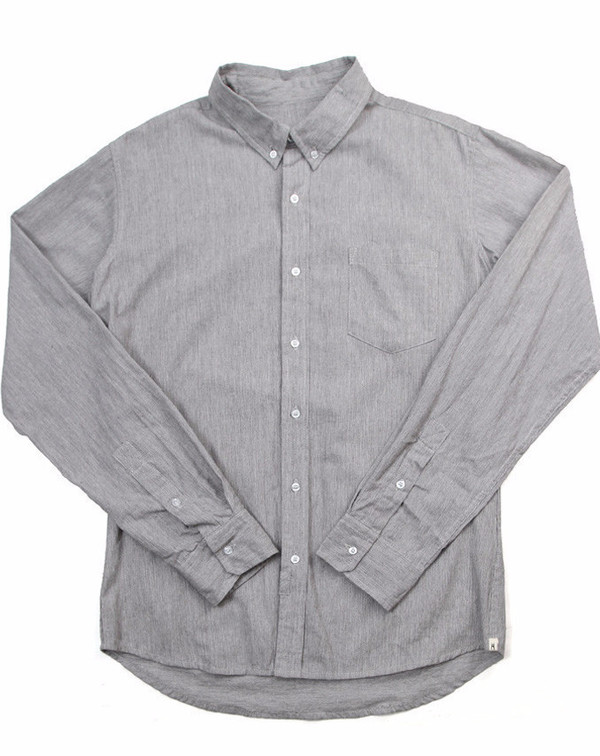 Men's Bridge & Burn Fulton Linen Pinstripe Shirt