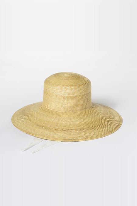 Clyde Straw Wide Brim Flat Top Hat