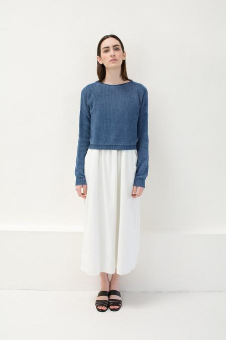 Micaela Greg Indigo Crop Sweater
