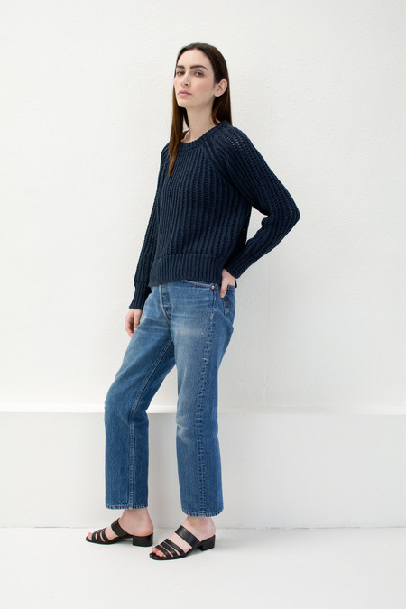 Micaela Greg Navy Chain Sweater