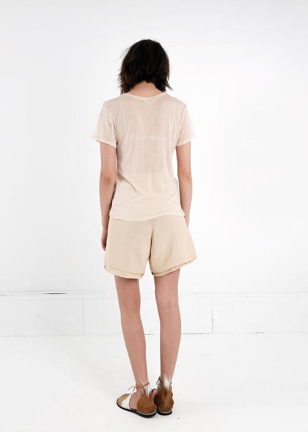 Baserange Nude Cupro Tee Shirt