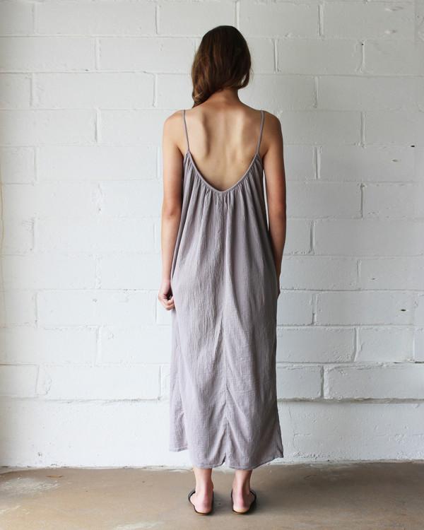 Esby LYLA SLIP DRESS - DRIFTWOOD