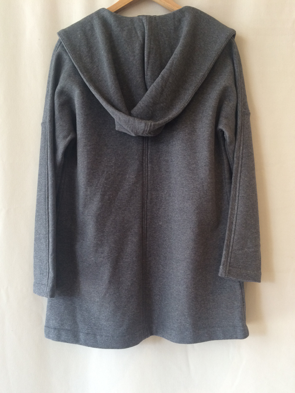 James Perse Grey Hooded Cardigan
