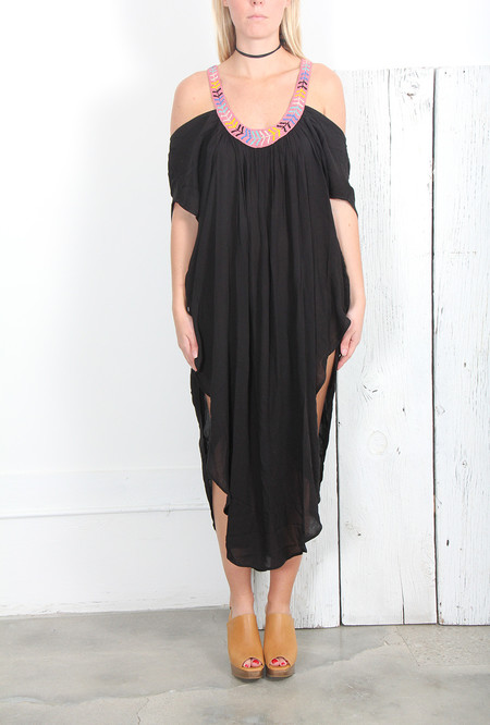 MARA HOFFMAN EMBELLISHED OFF-THE-SHOULDER CAFTAN