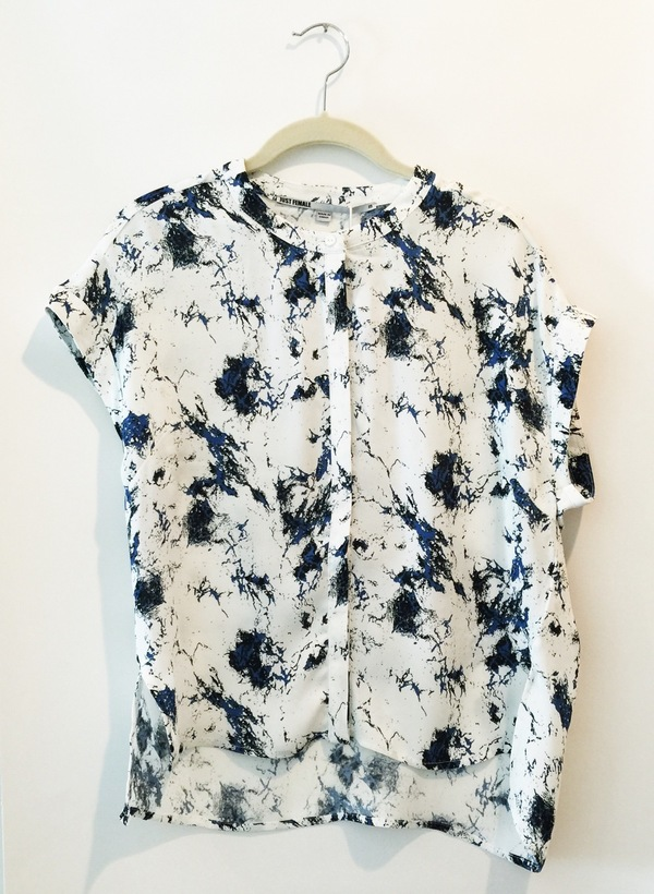 Just Female New Marble Blouse - Blue Aop