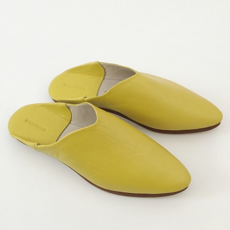 Carrie Forbes Babouche in Yellow Leather