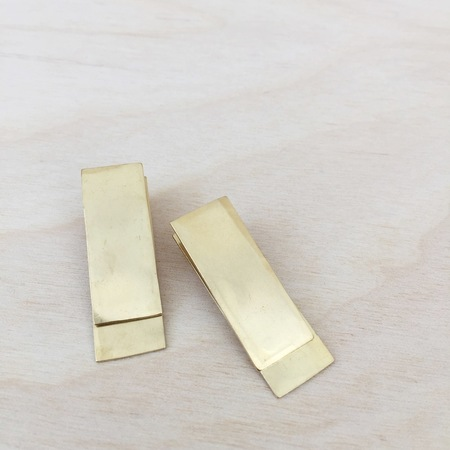 Aoko Su Going to the Bank Earrings Bronze