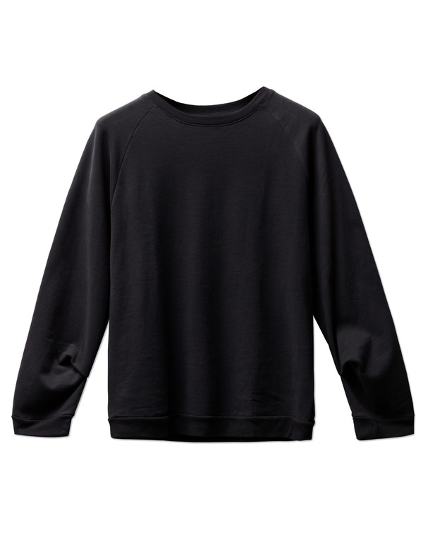Organic by John Patrick French Terry Sweatshirt Black