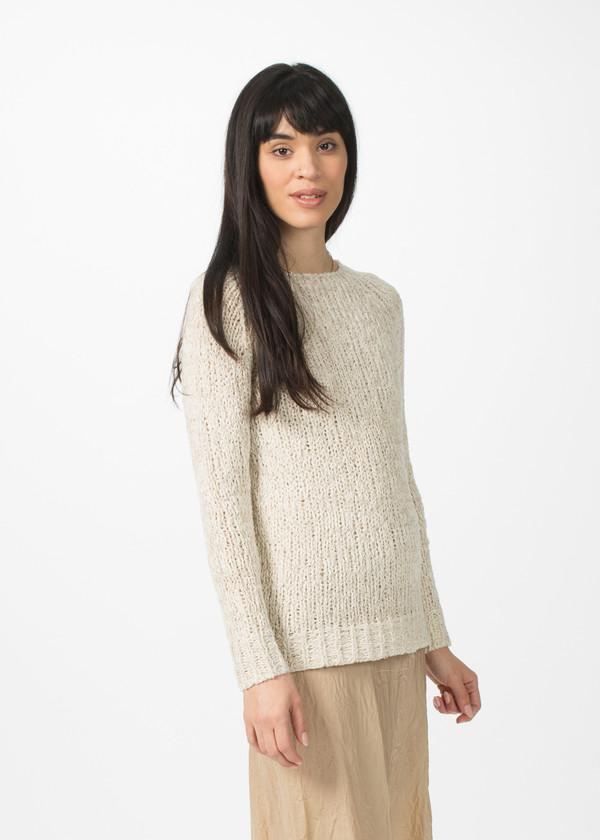 Organic by John Patrick Long Sleeve Pullover - Natural
