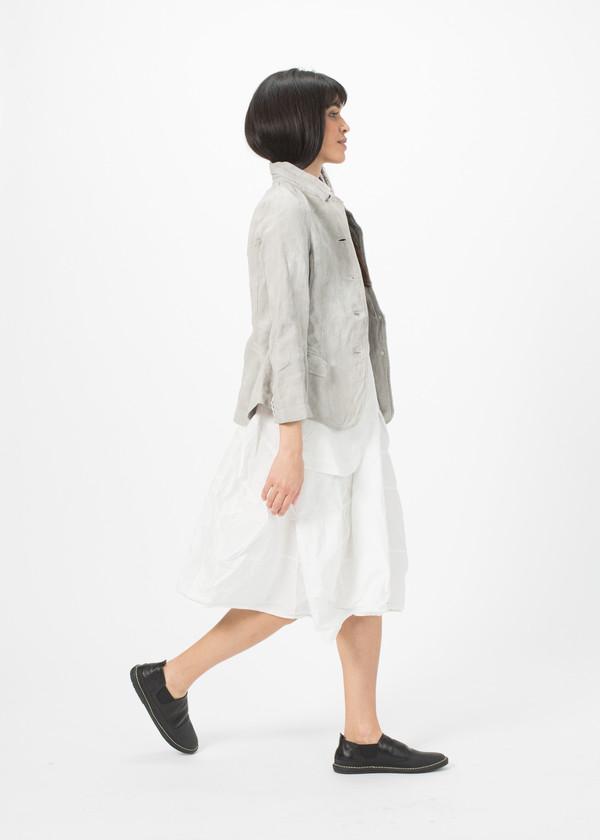 Rundholz Dip Woven Linen Blend Jacket - Grey
