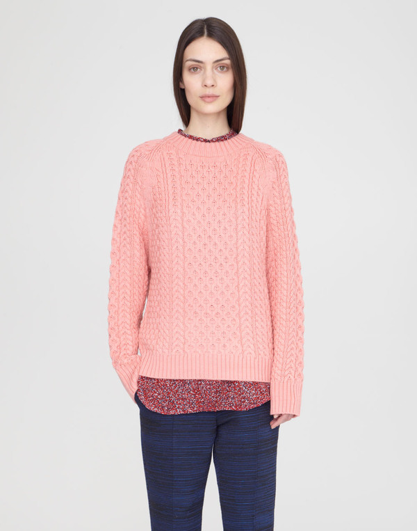 Apiece Apart Anni Flamingo Fishermens Sweater