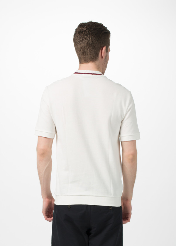 Men's Fred Perry Crew Neck Pique T-Shirt - White