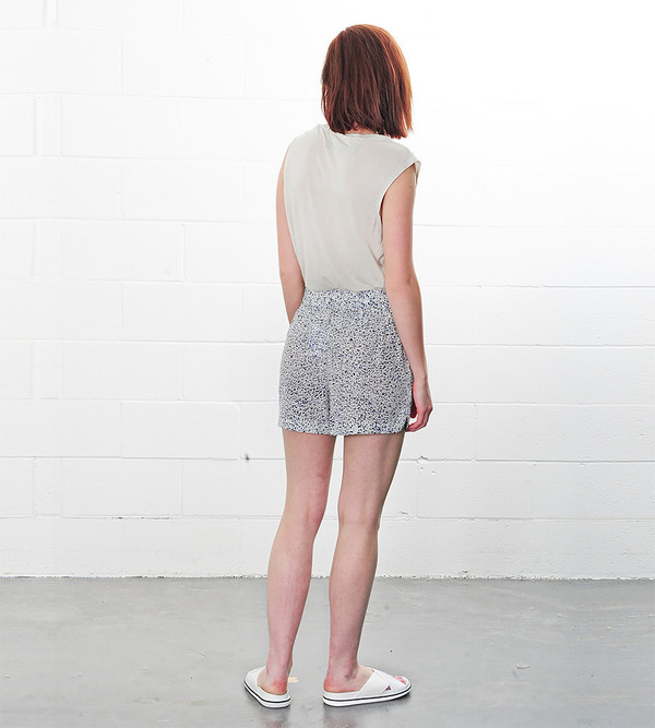 Ganni Speckles Lee Silk Shorts