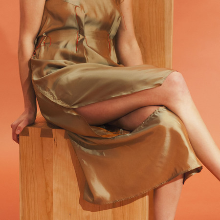 ECKHAUS LATTA  IRIDESCENT SPILL DRESS