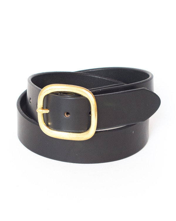 Wood & Faulk Harrison Belt Black