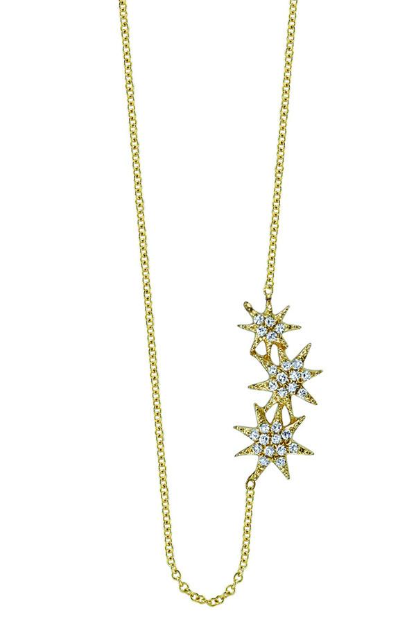 Gabriela Artigas & Company 14K Triple Shooting Star Necklace