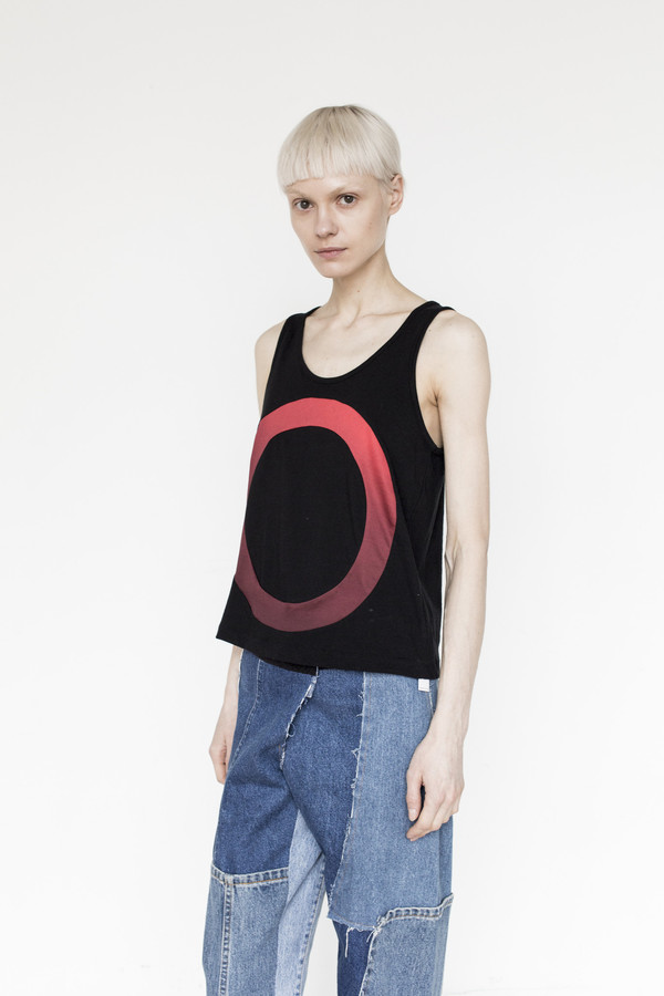 Correll Correll Cotton Outline Circle Tank