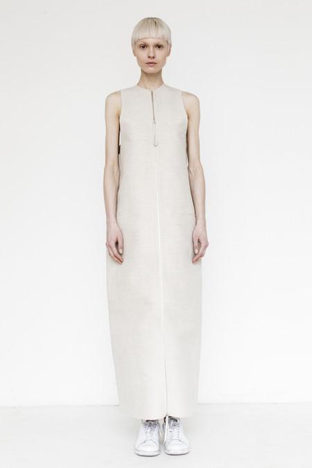 CF. Goldman Twill Bonded Vest Dress- Beige