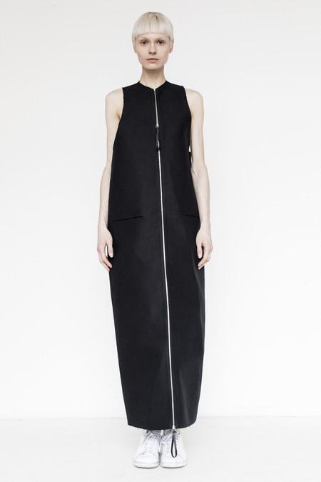 CF. Goldman Twill Bonded Vest Dress- Black