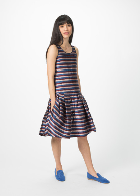 Odeeh Sleeveless Multi-Pleat Dress