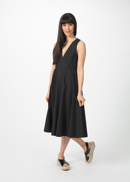 Organic by John Patrick V-Neck Full Skirt Dress