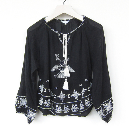 Star Mela Lipi embroidered top - black/ecru