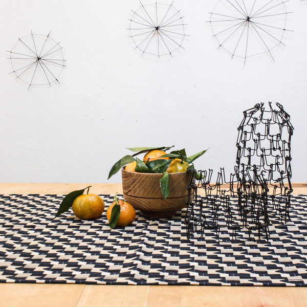 "Erica Tanov ""was black"" table runner"