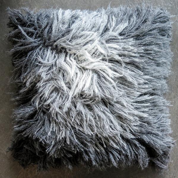 alpaca shag pillow