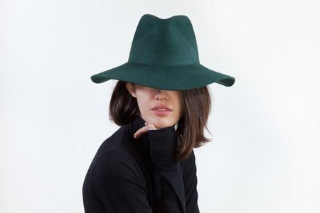Clyde Wide Brim Pinch Hat in Loden Wool