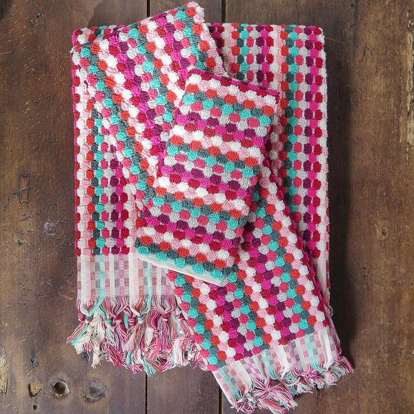 Michele Keeler pink dot towel