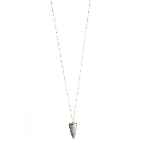 Lisbeth Howlite Horn Necklace