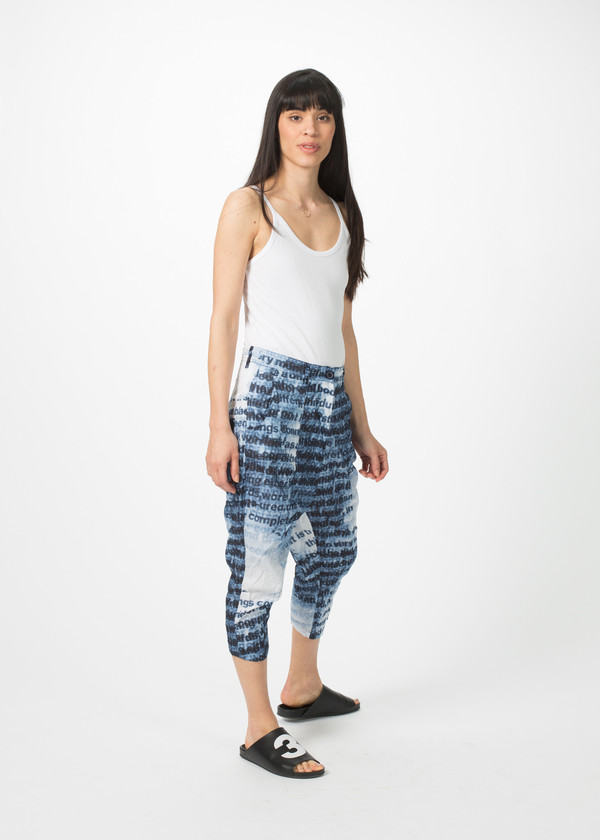 Rundholz BL Cropped Text Pants
