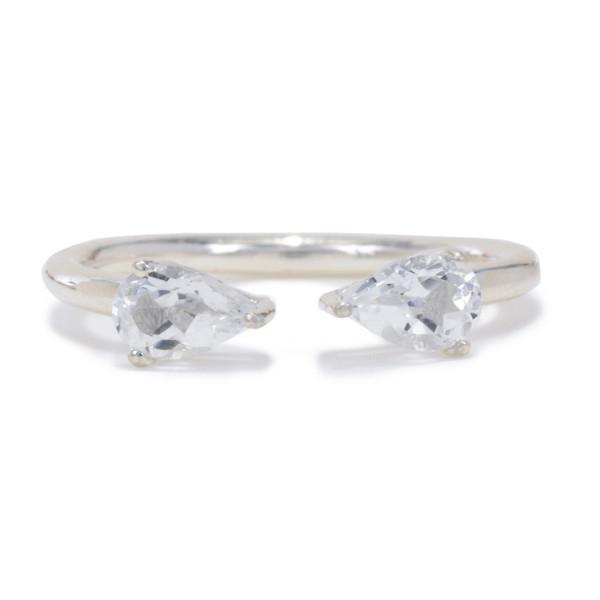 Tarin Thomas Madison Silver and White Topaz Ring