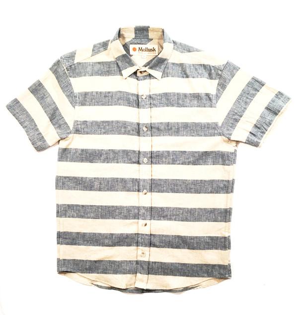 Men's Mollusk Summer Shirt Natural/Indigo