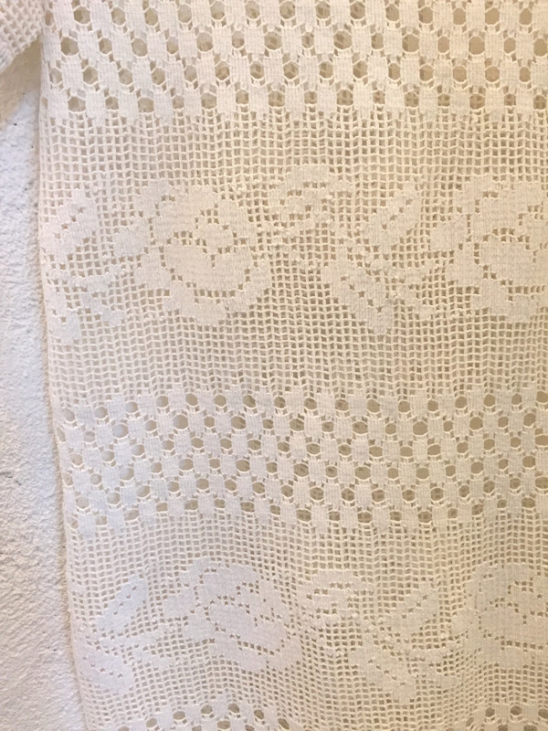 Place Nationale Sleeved Kaftan Crochet Maxi Dress