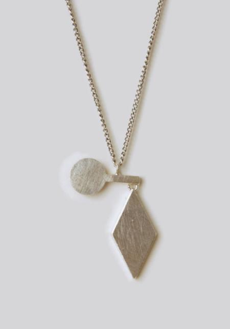 Naoko Ogawa Diamond Circle Fulcrum Necklace
