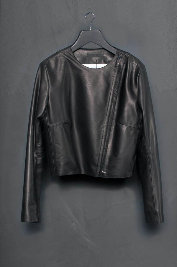 KES Minimal Leather Jacket