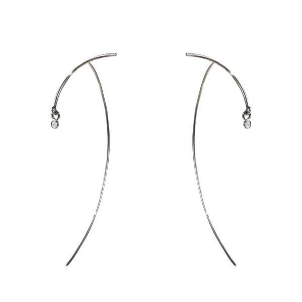TARA 4779 Silver Arc Stabile Earring